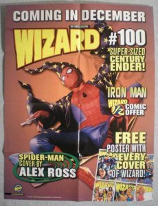 SPIDER-MAN / WIZARD Promo poster, 19x25, 1999, Unused, more Promos in store