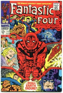 FANTASTIC FOUR #77 1968- SILVER SURFER-JACK KIRBY ART FN+