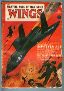 WINGS SPRING 1951 RARE PULP VIOLENT ANTI-COMMIE COVER G