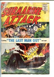 SUBMARINE ATTACK  #3-1950'S-CHARLTON -ERROR COMIC-JUST MARRIED-fr