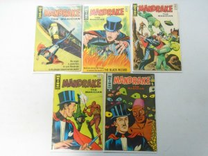 Mandrake the Magician lot 5 different issues 4.0 VG (1966+67 King)