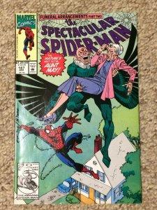 Spectacular Spider-Man #187 8.5 VF+ The Vulture's Next Victim: Aunt May! 1992