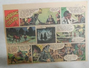 Hopalong Cassidy Sunday Page by Dan Spiegle from 12/20/1953 Size 7.5 x 10 inches