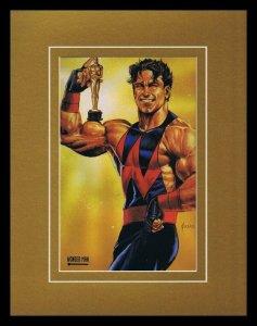Avengers Wonder Man 1993 Framed 11x14 Marvel Masterpieces Poster Display