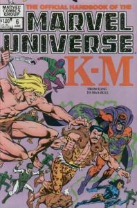 Official Handbook of the Marvel Universe (1983 series) #6, NM- (Stock photo)
