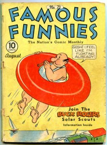 Famous Funnies #73 1940- Jack Kirby- Buck Rogers VG