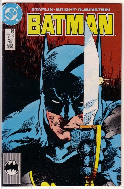Batman   vol. 1   #422 (1st print) FN Starlin/Bright, Bingham cover