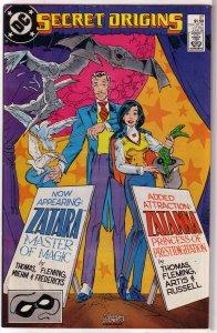 Secret Origins (vol. 3, 1986) #27 FN Zatanna/Zatara: Thomas/Fleming/Artis/Miehm
