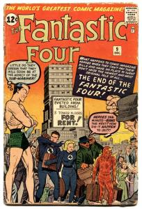 Fantastic Four #9-kirby art-sub-mariner-marvel-1962.