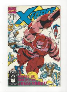 X-Force #3 Vs Juggernaut, Spiderman App NM