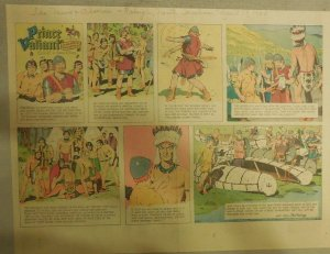 Prince Valiant Sunday by Hal Foster from 4/17/1966 Half Full Page Size !