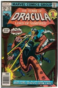 TOMB OF DRACULA 62 VG Jan. 1978 COMICS BOOK