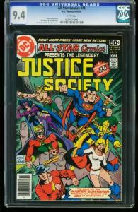 ALL-STAR COMICS #74 1978- CGC GRADED 9.4 WHITE PAGES 0207674006