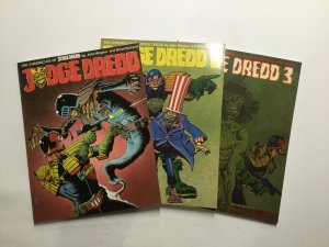 Judge Dredd 1-3 Chronicles Of Judge Dredd Near Mint Nm Bolland Titan Books