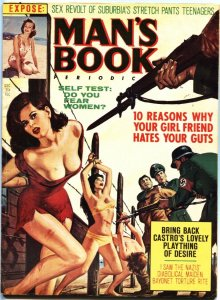 MAN'S BOOK-DEC 1964-BAYONET TORTURE BONDAGE-CHEESECAKE-PULP THRILLS