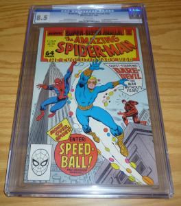 Amazing Spider-Man Annual #22 CGC 8.5 marvel new warriors key - 1ST SPEEDBALL