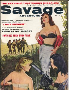 Savage Adventure #6 5/1961-Good Girl Art-Prezio-Doore-terror-cheesecake-FN