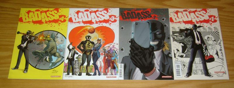 Bad Ass #1-4 VF/NM complete series for fans of deadpool & kick-ass 2 3 set lot