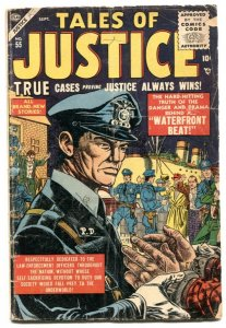 Tales of Justice #55 1955- Atlas crime comic G/VG