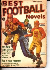 BEST FOOTBALL NOVELS-#1-1942-RARE-OLD UNIFORMS & HELMET VG