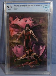 Red Sonja & Vampirella Meet Betty & Veronica #1 Cat Staggs Virgin Cover CBCS 9.8