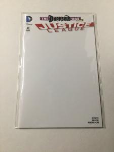 Justice League The Darkside War 1 Nm Near Mint Blank Variant DC Comics