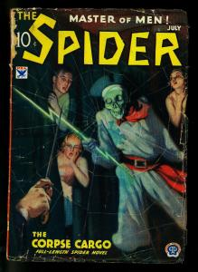 The Spider Pulp July 1934- Corpse Cargo- Skeleton cover- G-