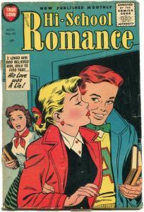 Hi-School Romance #45 1955- Harvey comics- Bob Powell art G