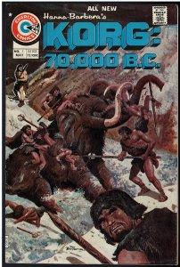 Korg: 70,000 B.C. #1 (Charlton, 1975)