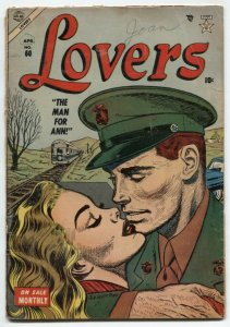 Lovers #60 1954- Atlas Romance- Marine cover- G/VG