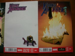 3 Near-Mint Marvel Comic: YOUNG AVENGERS #3 (2005) & #9 #11 (2013) Heinberg Dell