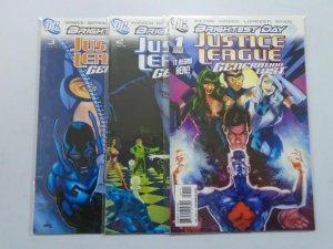 Justice League Generation Lost (2010) #1-3 Run - 8.0 VF - 2010