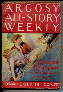 Argosy All-Story Weekly 7/18/1925-GGA cover by Paul Stahr-Fred MacIssac-Clare...