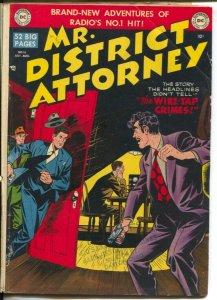 Mr. District Attorney #16 1950-DC-Wire-Tap crimes-police artist story-VG