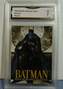 1994 Skybox Batman Saga Dark Night Promo Card - GMA Graded NM 7