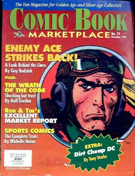 THE COMIC BOOK MARKETPLACE Magazine #19 ENEMY ACE cover