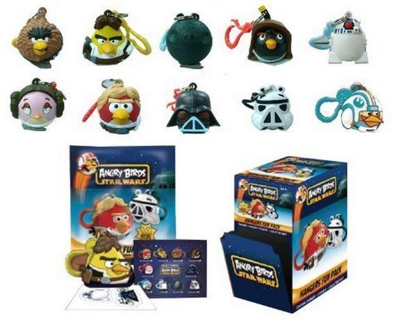 Star Wars Angry Birds Phone Danglers Complete Set of 10 (Rovio, 2012) - New!