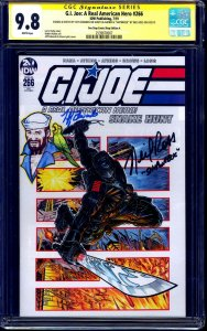 G.I. Joe #266 VARIANT CGC SS 9.8 signed ORIGINAL Shipreck Sketch signed x2 VOICE