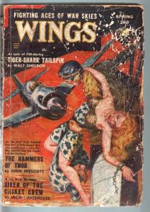 WINGS PULP-SPR 1949-SPICY GEORGE SAUNDERS ART VG
