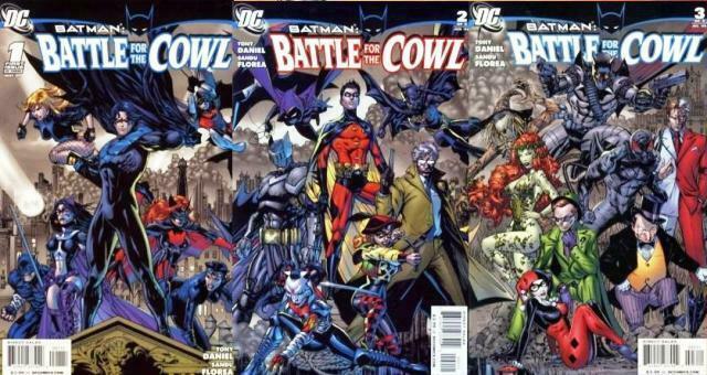 BATMAN BATTLE FOR THE COWL (2009) 1-3  TONY DANIEL