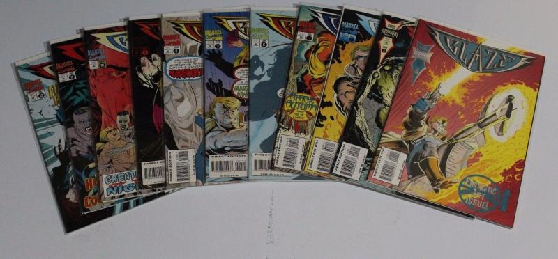 BLAZE  Midnight Sons #1-4, 6-12 (11 comic lot) Marvel Comics 1994 ~ NM (HX461)