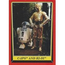 1983 Topps RETURN OF THE JEDI - C-3PO AND R2-DS #8