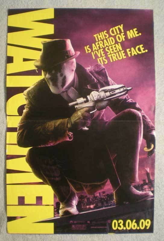 WATCHMEN Promo Poster, Movie,  11x17, 2009, Unused, Rorschach