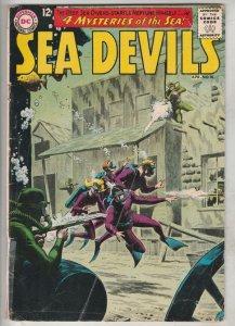 Sea Devils #10 (Apr-63) VG+ Affordable-Grade Sea Devils (Dane Dorrence, Biff ...