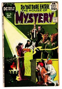HOUSE OF MYSTERY #196 comic book 1971 DC BLACK MASS COVER TOTH ART