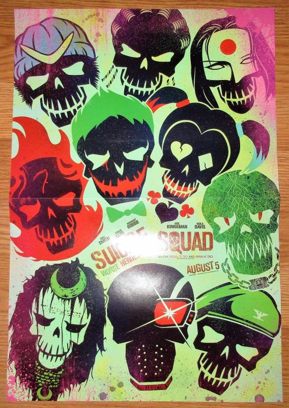 Suicide Squad Folded Promo Poster (11 x 17) by DC