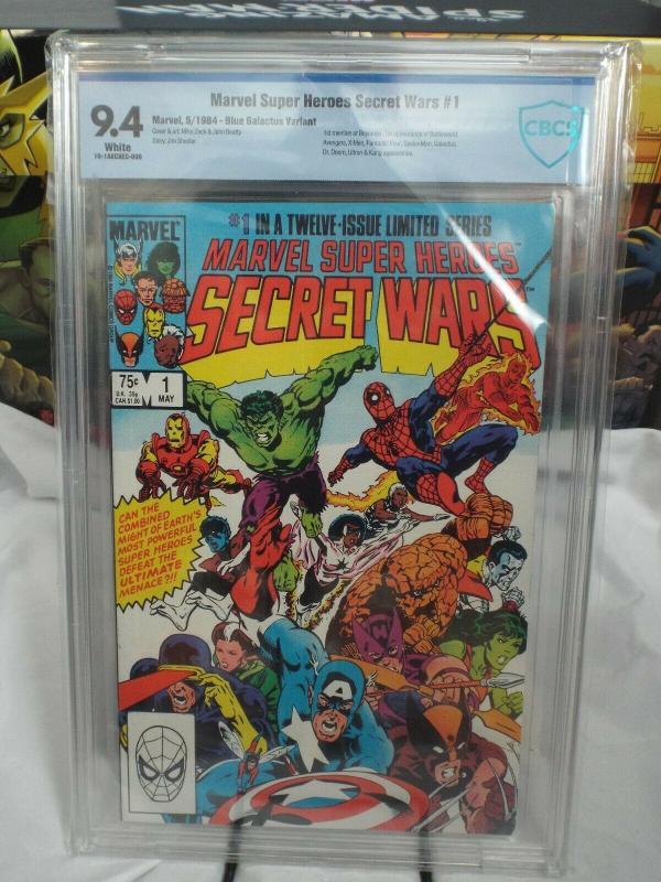Marvel Super Heroes Secret Wars #1 (1984) - CBCS 9.4 - Blue Galactus Variant
