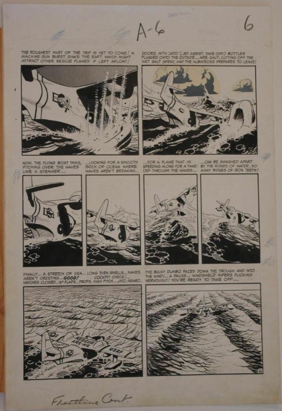 WALLY WOOD original art, FRONTLINE COMBAT #14 pg 6, 15x22, 1953, EC, Albatross
