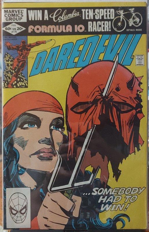 Daredevil #179 CVR by Frank Miller Elektra Appearance