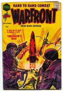 Warfront #34 1958 JACK KIRBY cover- War comic VG-